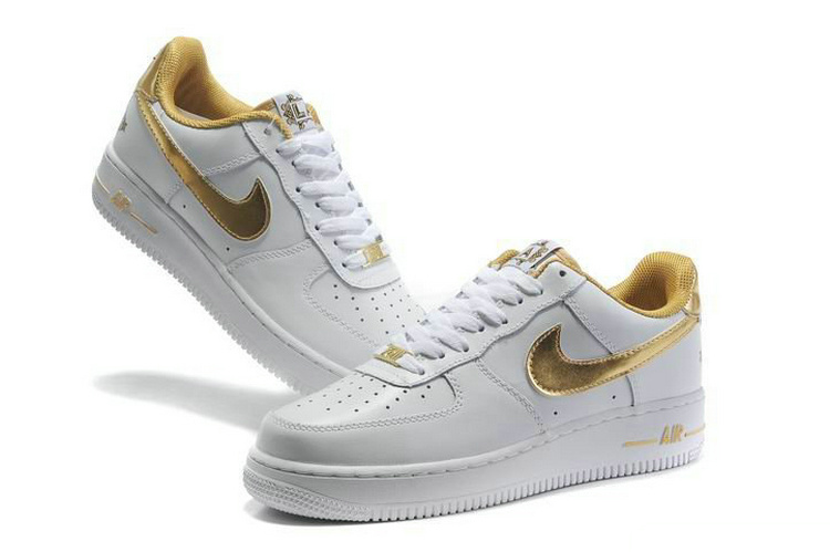 air force 1 femme blanche et or