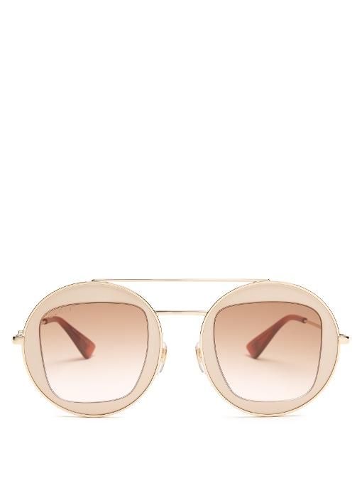7d655d3dca4 lunette Gucci aviator dore