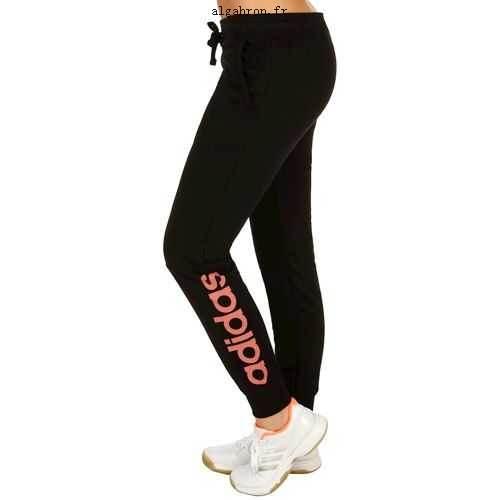 jogging noir rose adidas